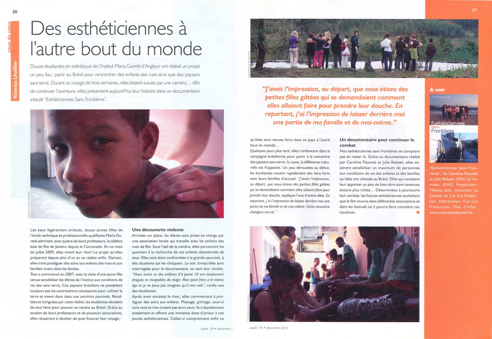 """""""Axelle"""" n° 134, Décembre 2010"""