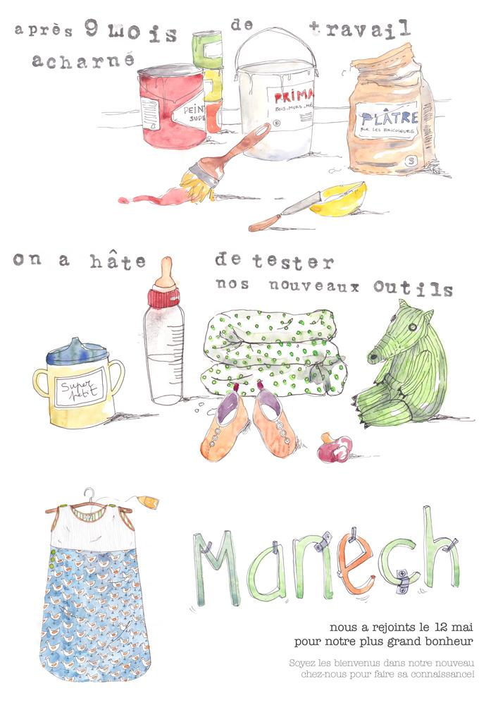 Faire_Part_naissance_Manech_Karo_Pauwels