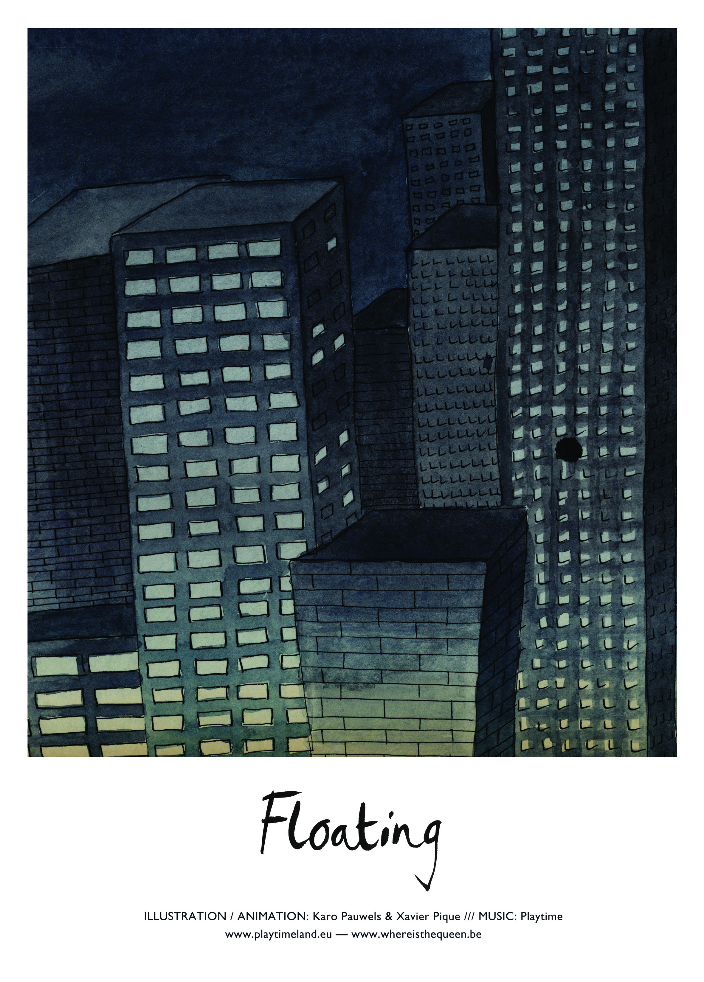Affiche_floating_KaroPauwels_illustration_Bruxelles