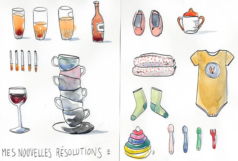 resolutions_jeune_maman_KaroPauwels_illustration